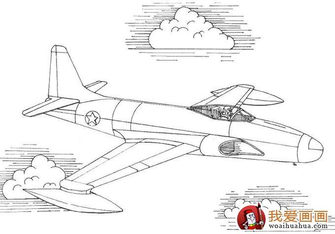 飞机简笔画,各种各样的简笔画飞机图片(11副)(2)