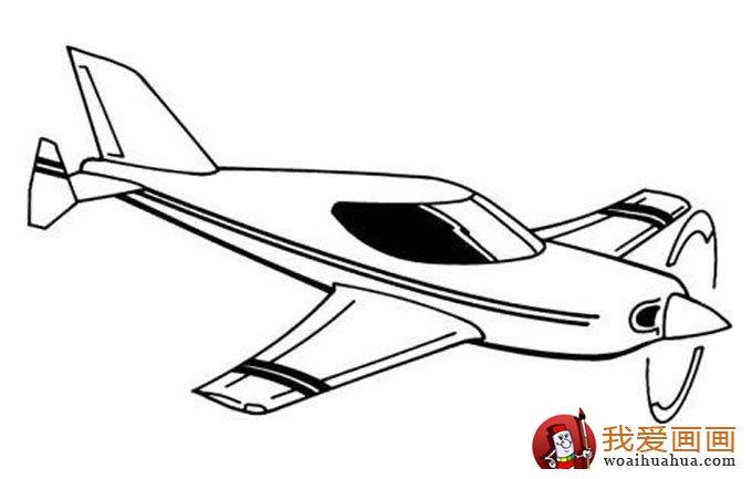 飞机简笔画,各种各样的简笔画飞机图片(11副)(3)