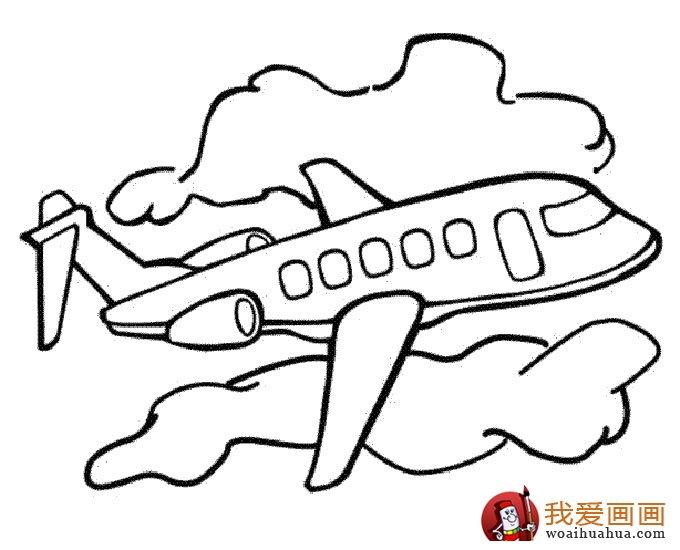 飞机简笔画,各种各样的简笔画飞机图片 11副 4图片