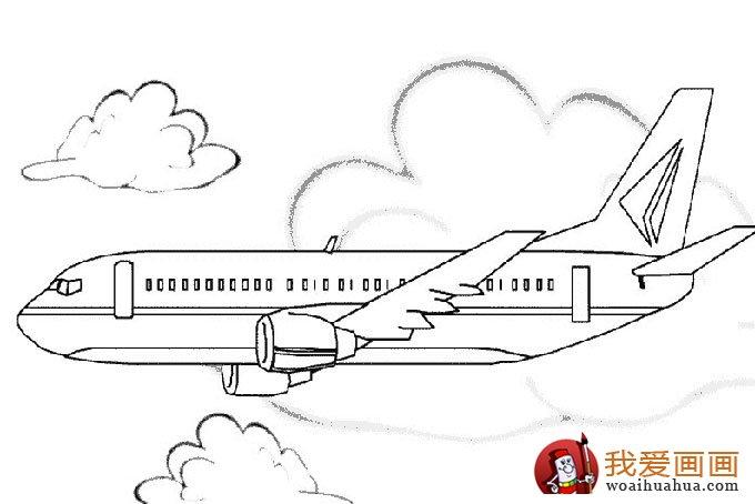 飞机简笔画,各种各样的简笔画飞机图片(11副)(5)