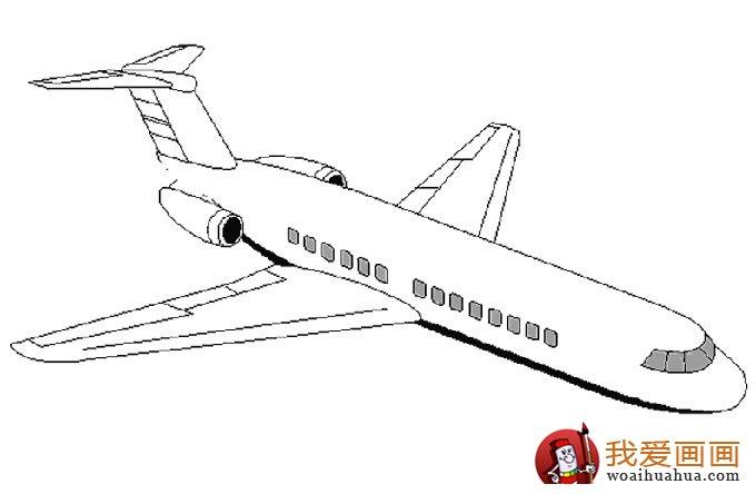 飞机简笔画,各种各样的简笔画飞机图片(11副)(6)