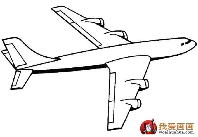 飞机简笔画,各种各样的简笔画飞机图片 11副 9图片