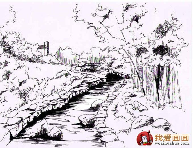 建筑园林设计草图手稿(手绘钢笔画)(5)图片