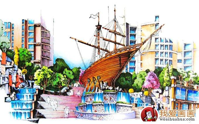建筑园林设计草图手稿(手绘钢笔画)(7)_手绘涂鸦_画画