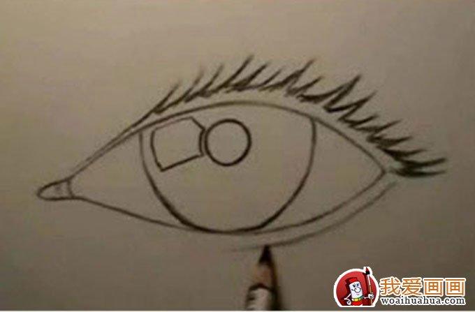 16个步骤教你用铅笔画眼睛手绘素描教程(2)