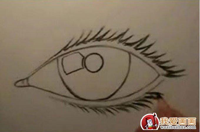 骤教你用铅笔画眼睛手绘素描教程 3图片