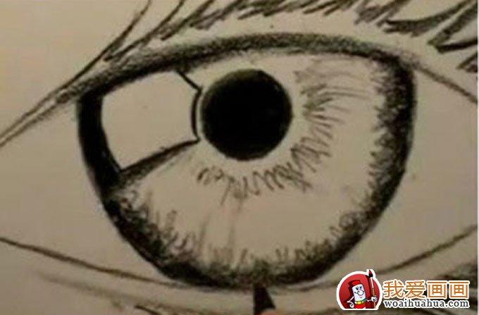 16个步骤教你用铅笔画眼睛手绘素描教程 4 素描