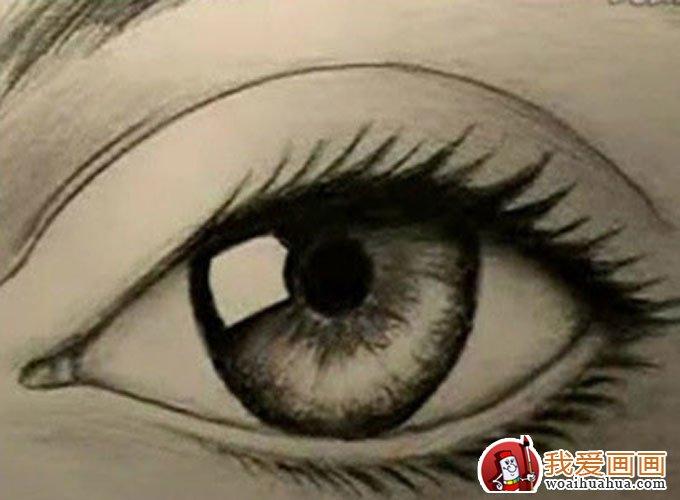 16个步骤教你用铅笔画眼睛手绘素描教程(8)