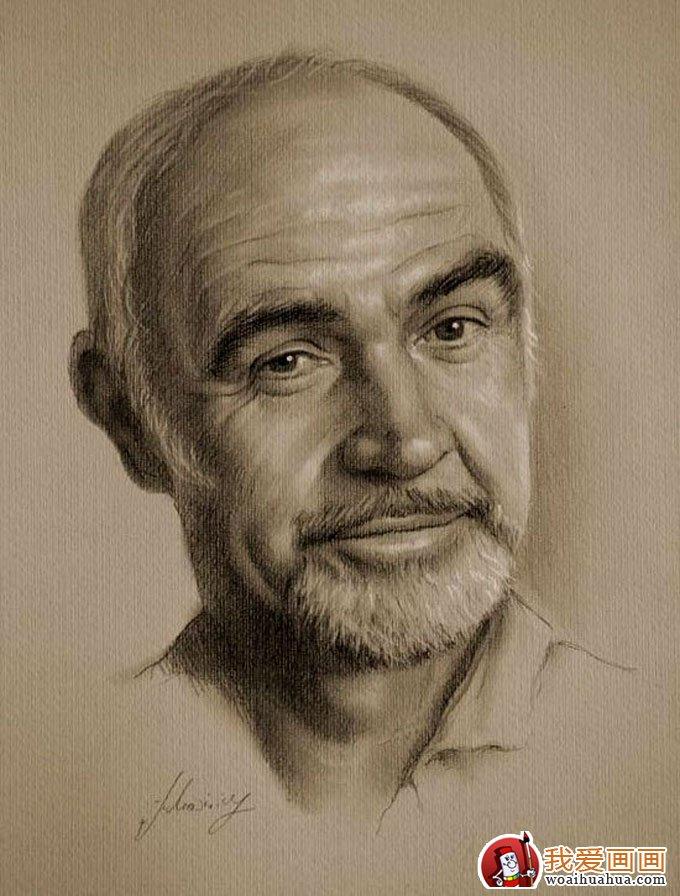 人物铅笔画图片 逼真完美好莱坞明星铅笔素描 上