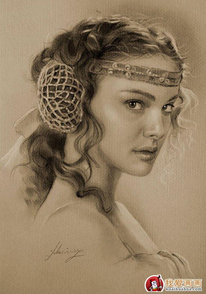 人物铅笔画图片:逼真完美好莱坞明星铅笔素描(上)(2)