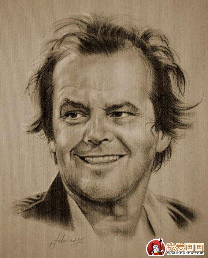 人物铅笔画图片:逼真完美好莱坞明星铅笔素描(上)(12)