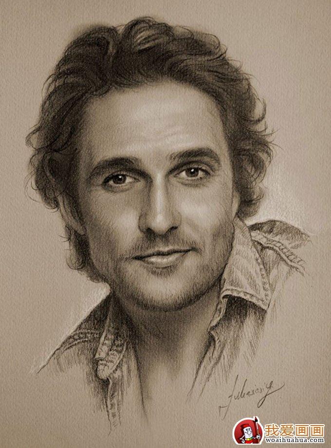 人物铅笔画图片:逼真完美好莱坞明星铅笔素描(上)(5)