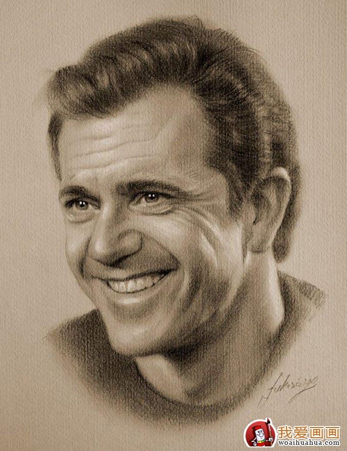 人物铅笔画图片:逼真完美好莱坞明星铅笔素描(上)(6)