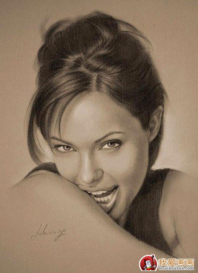 人物铅笔画图片:逼真完美好莱坞明星铅笔素描(上)(7)