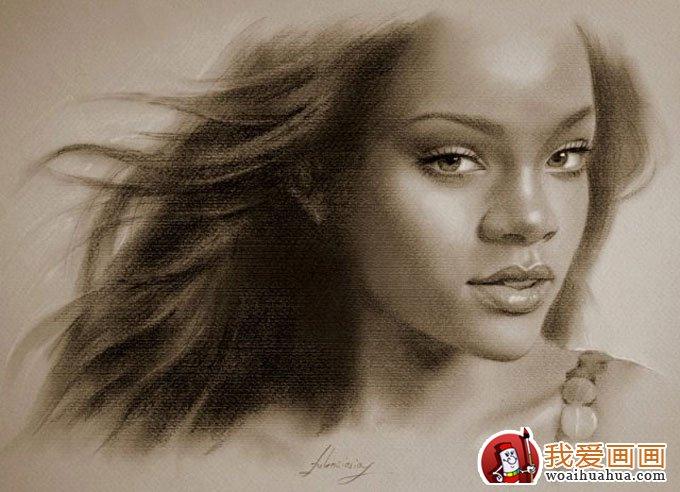 学画画 素描教程 素描人物 > 人物铅笔画图片:逼真完美好莱坞明星铅笔