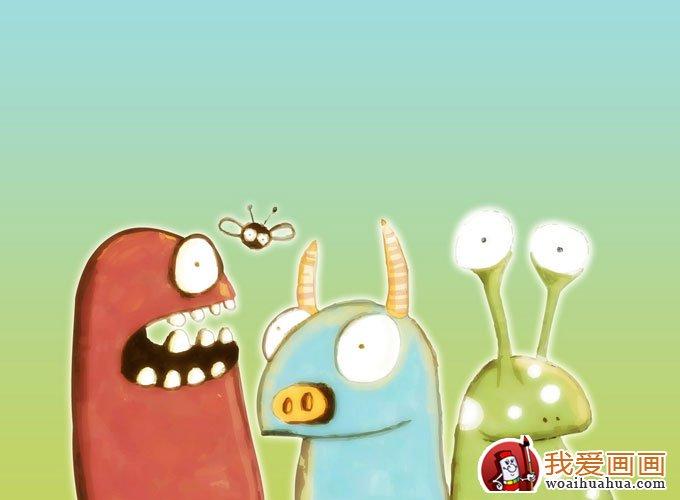 简单的儿童水彩画图片:卡通动画水彩图片8副(8)