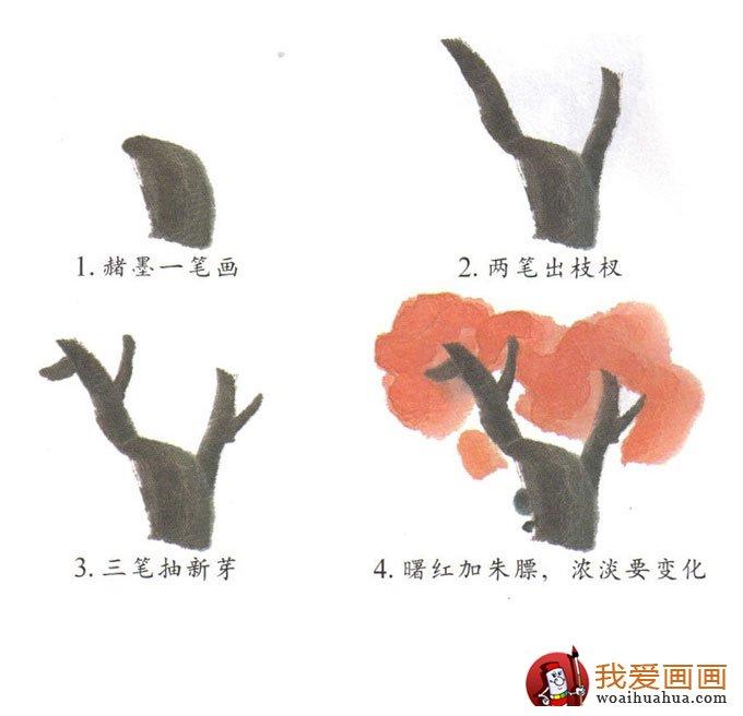儿童画树的画法:4步学会画枫树写意画