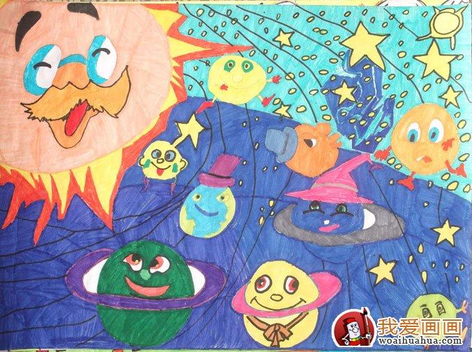 科学幻想绘画作品高清图片(12副儿童科幻画大全)(7)