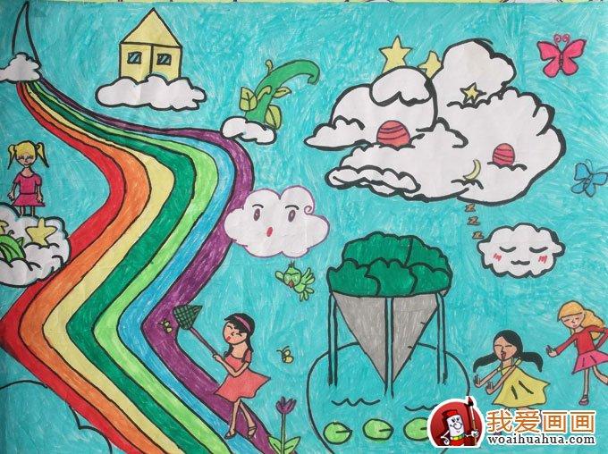 想绘画作品高清图片 12副儿童科幻画大全 8