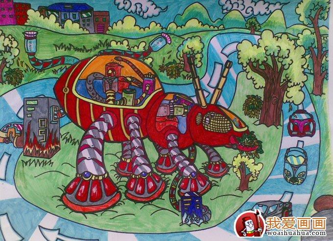 科学幻想绘画作品高清图片(12副儿童科幻画大全)(11)