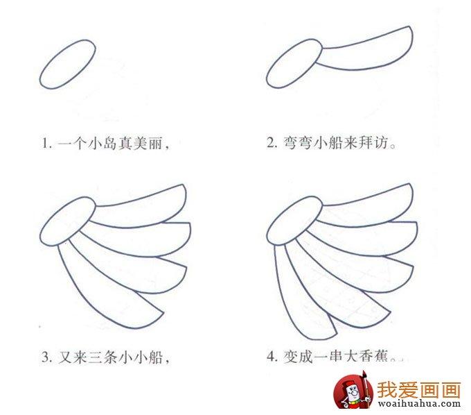 水果简笔画:最简单的香蕉简笔画画法