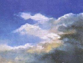 初级油画教程:天空的画法图文步骤