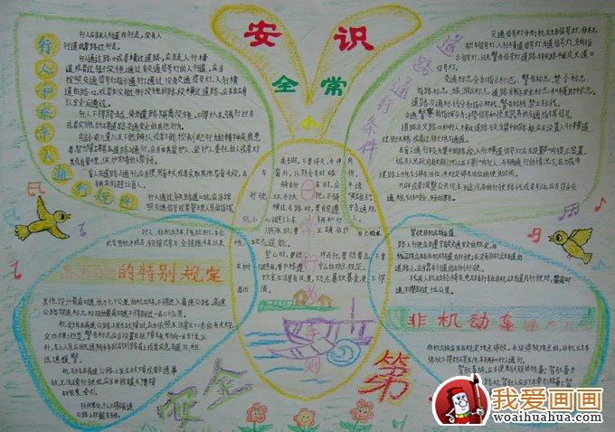 小学生安全知识8k手抄报版面设计图(6)
