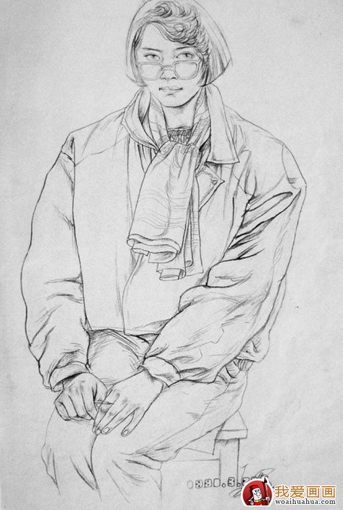 他的素描速写作品风格特异 ,线条流畅,是绘画初学者的上佳教材.