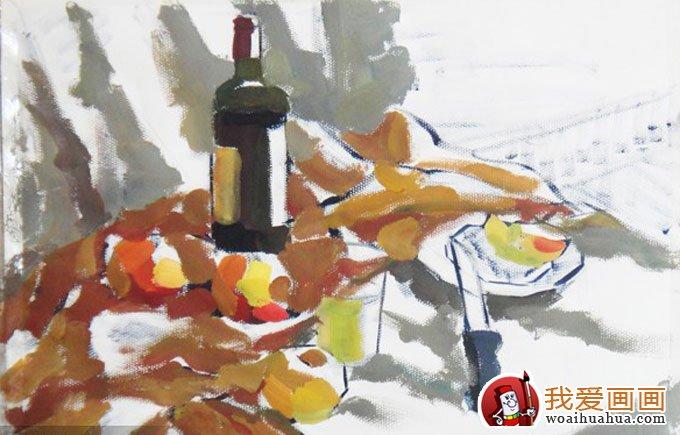 静物的色彩水粉与素描画法训练步骤教程(6)