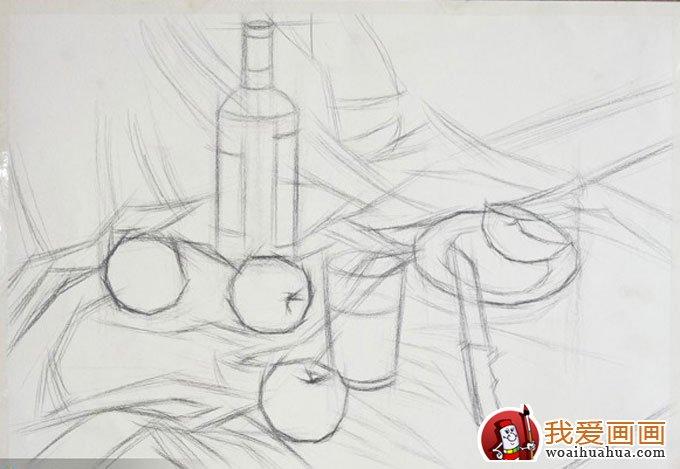 静物的色彩水粉与素描画法训练步骤教程(11)