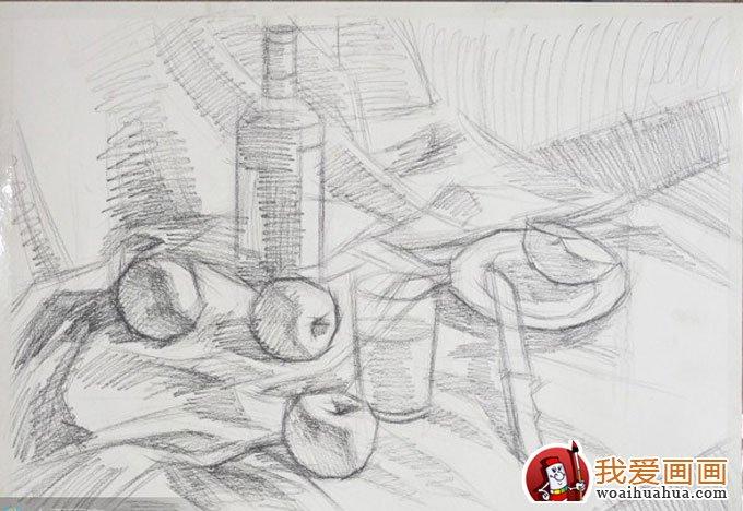 王凯宇6副静物水粉画和风景水粉儿童画作品欣赏 卡拉瓦乔《捧果篮的