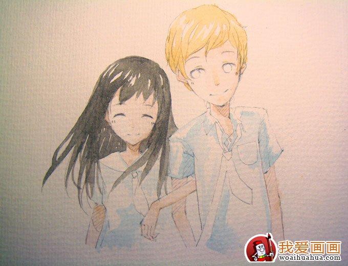 卡通人物水彩画绘画步骤的简单教程(4)