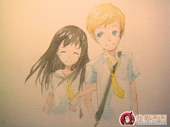 教程步骤水彩画漫画人物的简单卡通(5)说英语看绘画图片