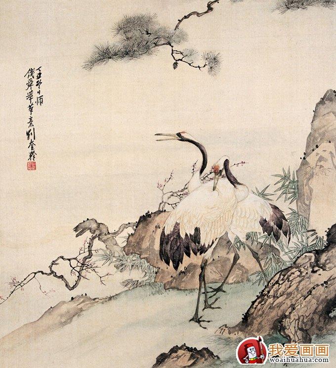 """丹顶鹤性格典雅,形状秀丽,素以喙、颈、腿""""三长""""著称,直立时可达一米多高,看起来品质清高,被称为""""一品鸟"""",位置仅次于凤凰。除此之外,鹤在中国的文明中占着很重要的位置,它跟仙道和人的精力品质有亲近的联系。大家常把仙鹤和挺立苍劲的古松画在一同,作为益年长命的标志。"""