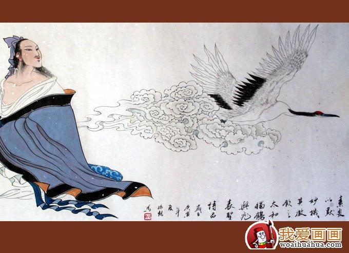 仙鹤国画图片(10p)工笔国画仙鹤精品欣赏(7)