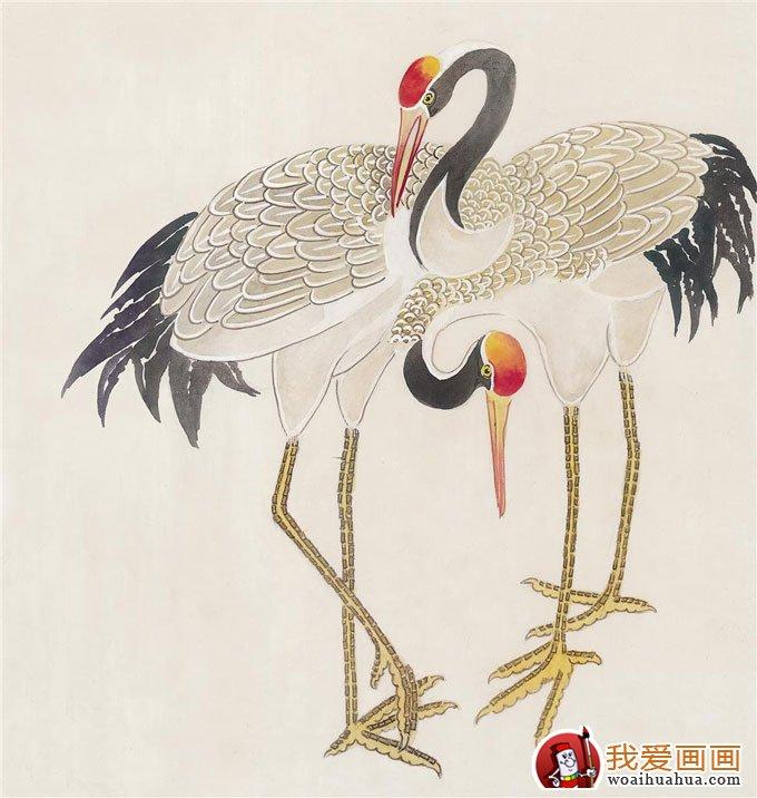 仙鹤国画图片(10p)工笔国画仙鹤精品欣赏(10)
