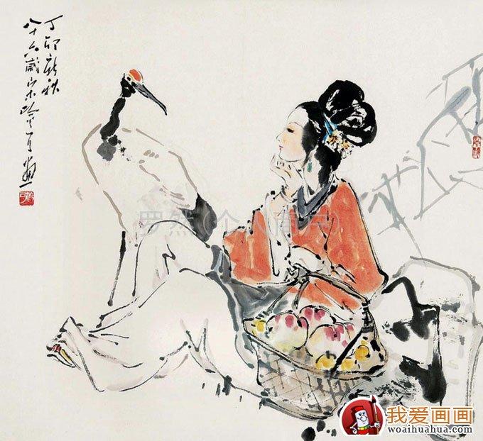 写意仙鹤 写意画仙鹤的精品国画欣赏