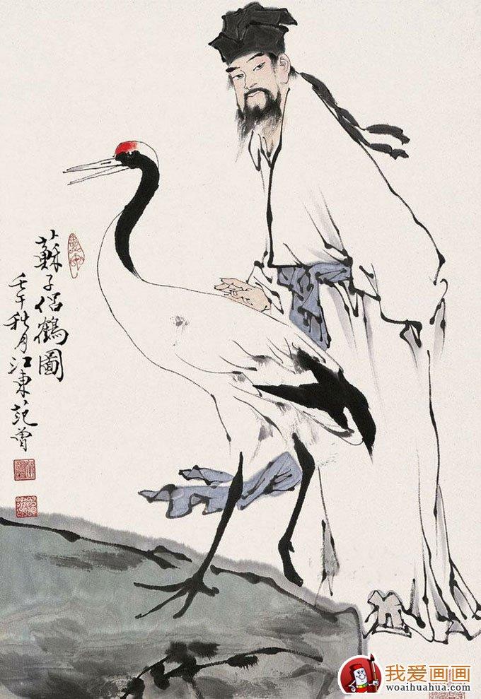 写意仙鹤 写意画仙鹤的精品国画欣赏 2
