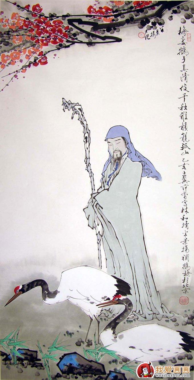 写意仙鹤 写意画仙鹤的精品国画欣赏 8