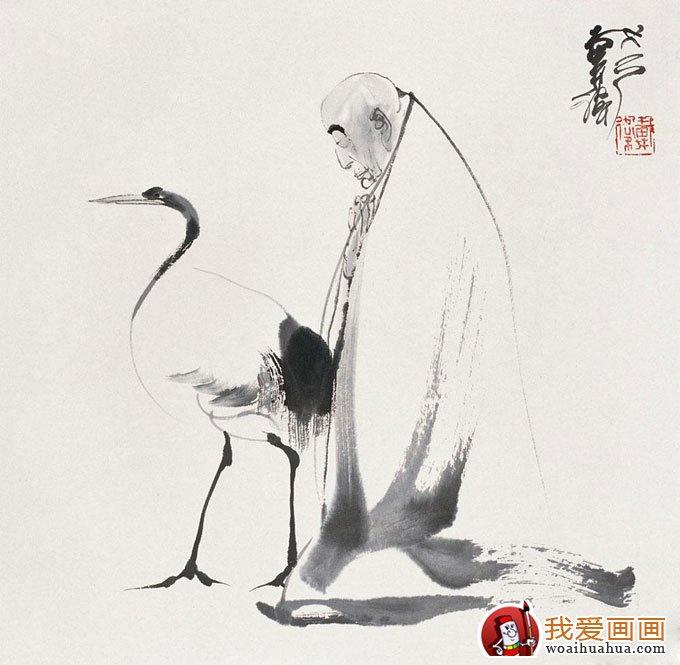 写意仙鹤 写意画仙鹤的精品国画欣赏 9