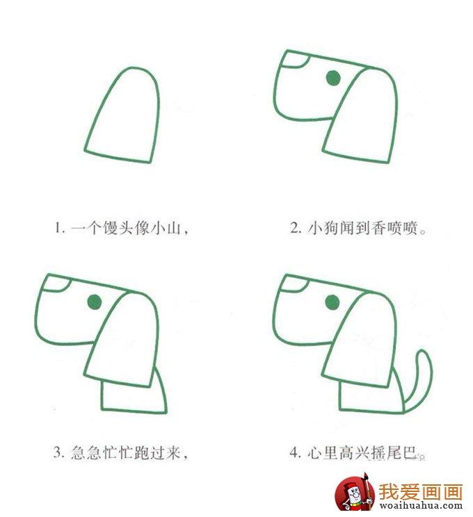样画出最简单的小狗狗简笔画