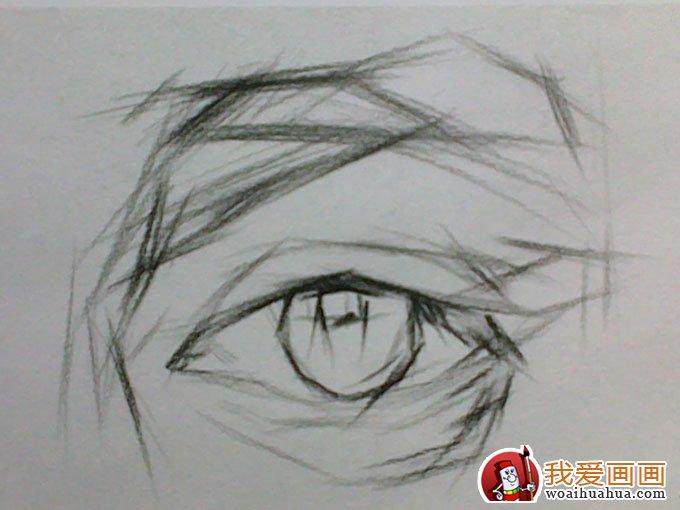 素描眼睛的画法步骤图解(2)