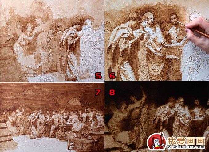 欧洲人物油画教程:高手画油画的全过程(2)