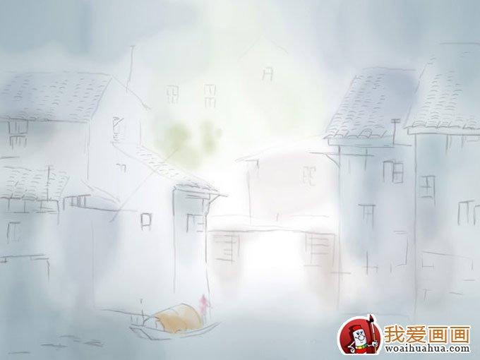 江南水乡水彩画教程(基本上色)