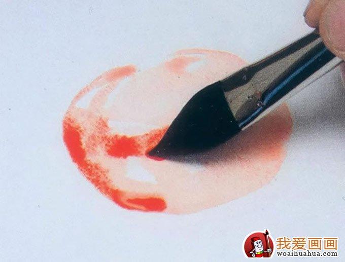 水彩画番茄画法:用水彩画的西红柿教程步骤(2)