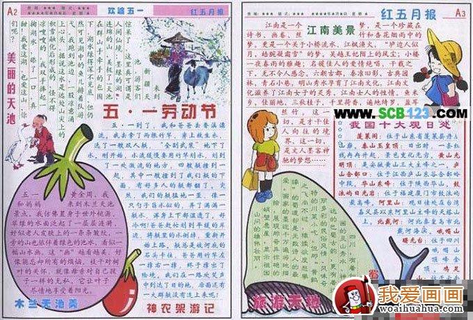劳动节手抄报版面设计及资料内容(4)