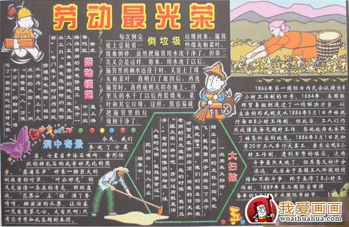 五一劳动节黑板报图片及版面设计资料(4)