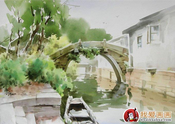 诗意朦胧写意水彩画:江南水乡风情水彩画欣赏(6)_水粉