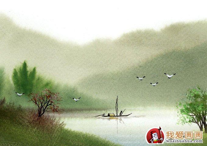诗意朦胧写意水彩画:江南水乡风情水彩画欣赏(7)