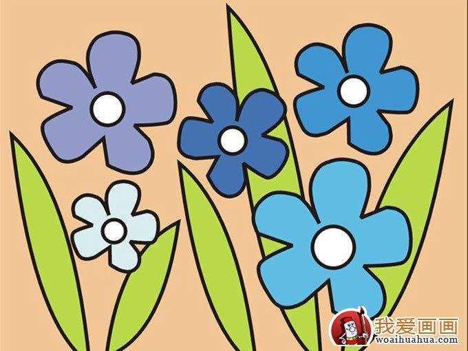 儿童画图片:花朵